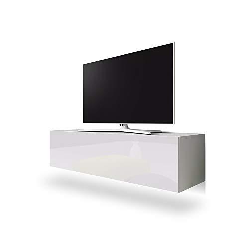 Selsey Point – TV-Board / TV-Hängeboard / Fernsehtisch, weiß, 160 x 40 x 34 cm
