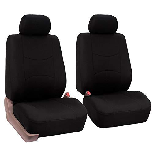 Dasing Juego de 4 fundas universales para asientos delanteros de coche, para todo el año, transpirables y suaves, color negro