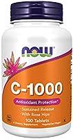 الآن فيتامين سي-1000 مع أقراص روز هيبس - 100 حبة