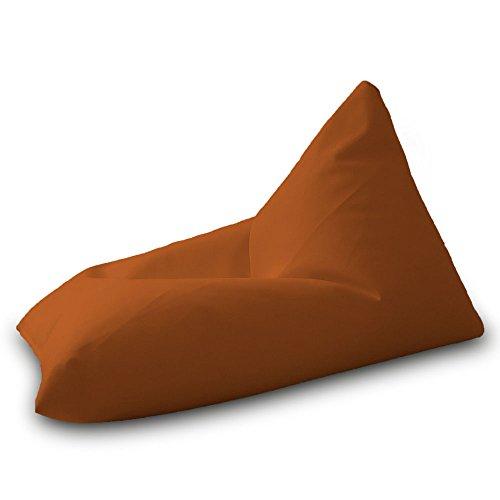 Beanbag Pouf Lounge Triangle Polyester imperméable pour extérieur XL 160 x 120 cm Ocre