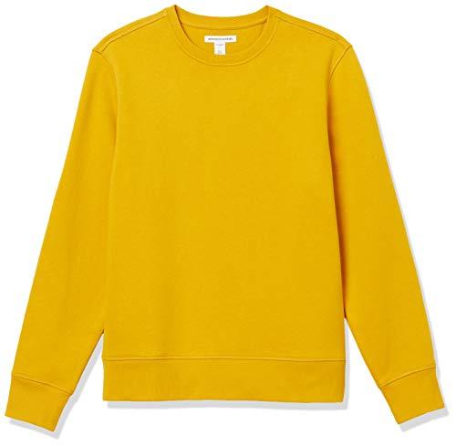 Amazon Essentials Men's Long-Sleeve Crewneck Fleece Sweatshirt, Gold, X-Large