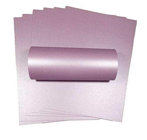 Syntego 10 Blatt, blasslila, Perlglanz, doppelseitig, A4, dekorative Karte, 300 g/m²