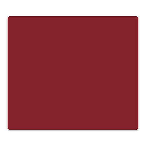 decorwelt | Herdabdeckplatte 60x52 cm Ceranfeldabdeckung 1-Teilig Universal Elektroherd Induktion für Kochplatten Herdschutz Deko Schneidebrett Sicherheitsglas Spritzschutz Glas Dunkel Rot