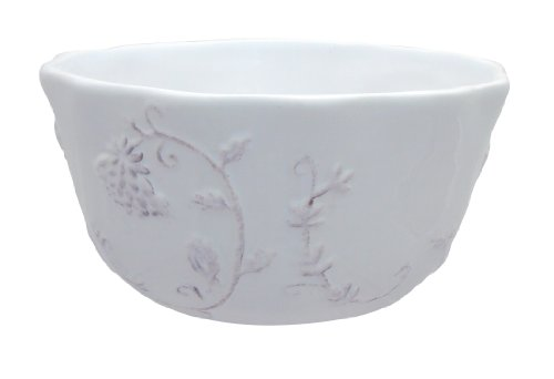 Dena Home Pavilion Soup/Cereal Bowl, White, Set of 4