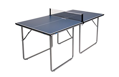 JOOLA Midsize - Regulation Height Table Tennis Table Great for Small Spaces and Apartments - 2/3 Size of Regulation Ping Pong Tables - Compact Storage & Space Saving - Ping Pong Net Set Included