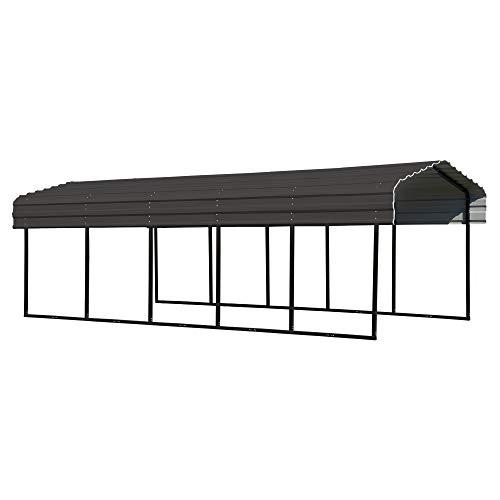 Arrow Shed 10 x 24 x 7-Foot Heavy Duty Galvanized Steel Metal Multi-Use Shelter, Shade, Carport, 10'...