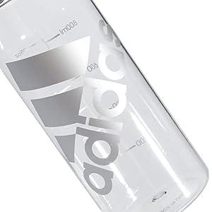 adidas Superlite 1L (32 oz) Plastic Water Bottle,Clear/ Metal Foil/ Blk,ONE SIZE