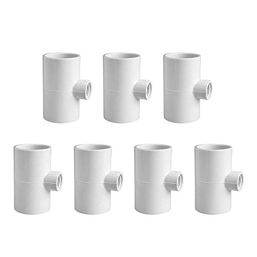 7 PVC Tee Fittings Original Pvc Tee Fittings For Horizontal Chicken Waterer And Chicken Feeder On Pvc Pipe Chicken Coop Accessories Namely For Threaded Red Chicken Nipples Or Threaded Brass Rabbit