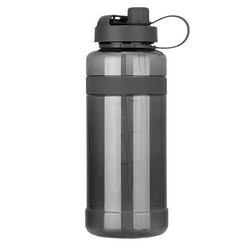 ALTRUISM Olla de Agua Potable, Vaso de Agua de plástico de Gran Capacidad, Vaso portátil con Pajita, Botella de Agua para Uso Diario en Deportes al Aire Libre (Grey,3000ml)