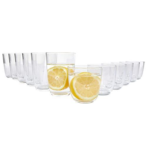 Bormioli Gläser Set \'Fresh\' 12 teilig | Füllmenge 250 ml & 350 ml | Hochwertige Qualität für EIN perfektes Trinkgefühl ohne scharfe Kanten