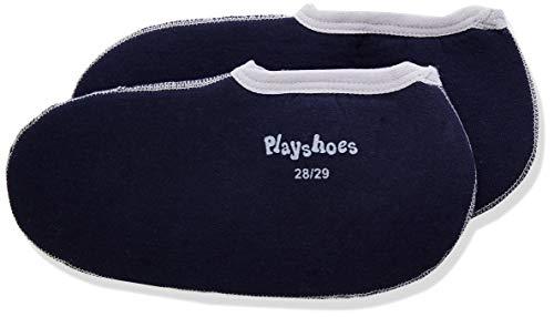 Playshoes Baby - Mädchen Kinder Stiefelsocken, Einziehsocken für Gummistiefel und Stiefel Socken, Blau (marine/grau 785), 20 (Herstellergröße: 20/21 EU), 189991