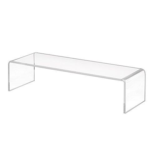 Dekobrücke aus Acrylglas in 200x50x70mm - Zeigis® / Schuhständer/Schuhaufsteller / U-Ständer/Acrylständer / Warenpräsentation/Dekoständer / Dekoaufsteller