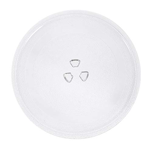 SOLUSTRE Microwave Glass Plate Microwave Glass Turntable Plate Replacement Turntable Tray Microwave Oven Parts Accessories with Diameter of 24.5cm (Clear)