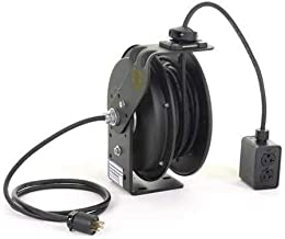 product image for Retractable Cord Reel with 50 ft. Cord 4-Outlet 12/3