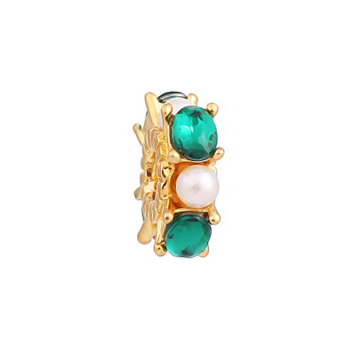AKKi jewelry Charms Anhänger Beads Edelstahl Gold Perle für bettel-Armband Bead Charm Silber Original Chrystal Strass kompatibel mit Pandora Style