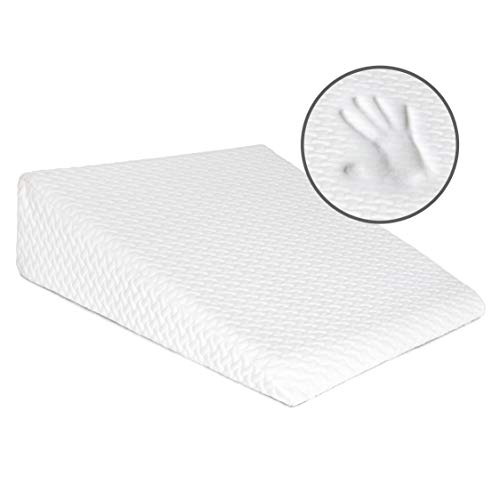 Milliard Bed Wedge Pillow with Memory Foam Top -Helps with Acid Reflux and Gerds, Reduce Neck and Back Pain, Snoring, and Respiratory Problems- Breathable and Washable Cover (7.5 Inch)