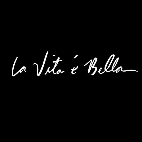 OuYou Pegatina de Coche Pegatinas De Estilo De Coche Personalidad De Estilo Etiqueta De Auto Impermeable Etiqueta De Vinilo la Vita es Bella (Blanco)