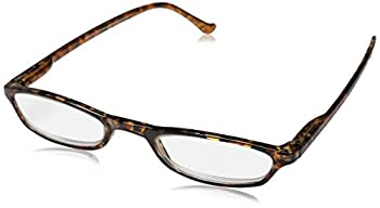 Peepers by PeeperSpecs Women s Slim Line Rectangular Reading Glasses Tortoise 45 mm + 3