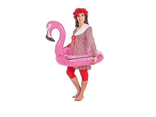 Creaciones Llopis- Disfraz Adulto bañista Mujer, Multicolor (4851-L)