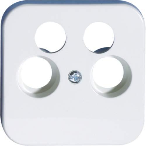 OPUS® 1 Abdeckung für Antennen-Steckdosen, 4-Loch Farbe alpinweiß