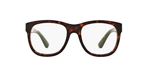 Ralph Lauren RL6143 Quadratischer Brillenrahmen, dunkles Havana/Demo-Objektiv, 54 mm