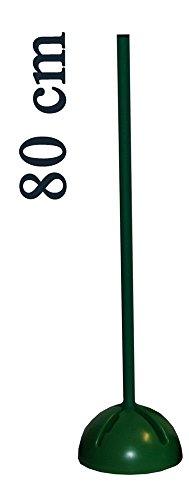 Agility Sport pour Chiens - Socle Multi-Fonctions remplissable avec Jalon - Longueur 80 cm, Ø 25 mm - Couleur: Vert - 1x xs80g