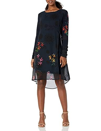 Desigual Vest_Gabrielle Vestido Casual, Azul, XL para Mujer