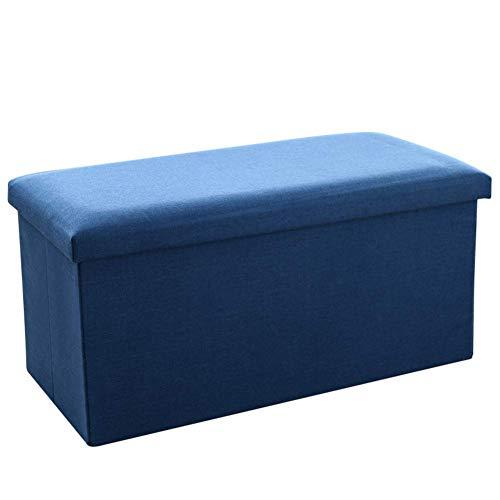 XBCDX Puf tapizado con Forma de Cubo otomana, puf Taburete Plegable Plegable de Cuero de Tela Mesa de Centro Banco-a 76x38x38cm (30x15x15)