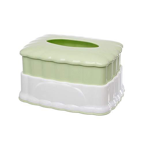 HUI JIN Casetta Porta fazzoletti Retrattile, Impermeabile, Creativo, in plastica, per casa, Hotel, Verde