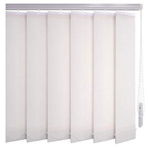 Sonnenschutz-HH® - Lamellenvorhang weiß lichtdurchlässig - Breite 205 cm x 65 cm Höhe - Lamellenbreite 127mm Vertikaljalousie Vertikalanlage Schiebevorhang