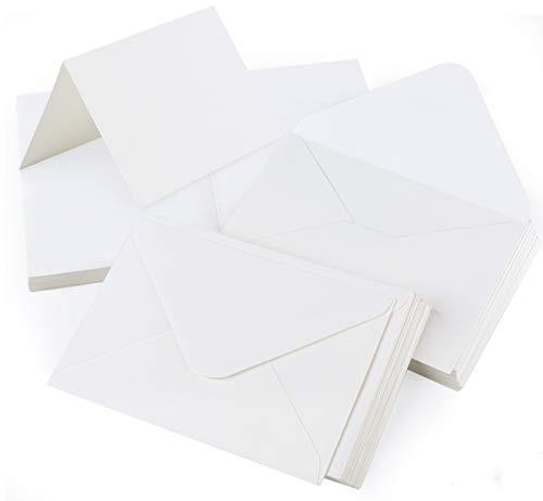 Mocraft - Juego de 60 tarjetas de papel de estraza con sobres plegables, DIN A6, tarjetas plegables para regalo, tarjetas de felicitación, invitación