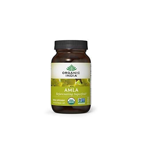 Organic India Amalaki Herbal Vitamin Supplement - Immune Support, Vitamin C, Vegan, Gluten-Free, Kosher, Ayurvedic, Antioxidant, USDA Certified Organic, Non-GMO - 90 Capsules