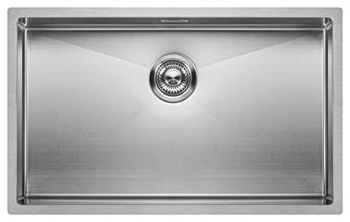 Fregadero de Cocina Mizzo Linea | Acero Inoxidable 304 | Montaje Bajo o Sobre Encimera o al Ras | Radio 10mm | 1 Seno | Espesor Acero 1.2mm (70x40)