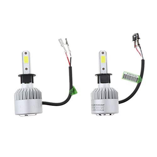 B Blesiya Kit de Faros Delanteros LED 8000 LM de 2 Piezas, Foco de Luz, Faro de Luz Baja, Luz de Conducción Antiniebla, Repuesto de Luz de Cabeza Halógena, H3