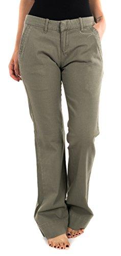 Roxy Jeanshose grün khaki Niedrige Taille Ease Modell Wish You Were 25 26 27 28 29 30 31 32 33 XS S M L XL 34 36 38 40 42 44 Gr. 36-38, grün - vert khaki