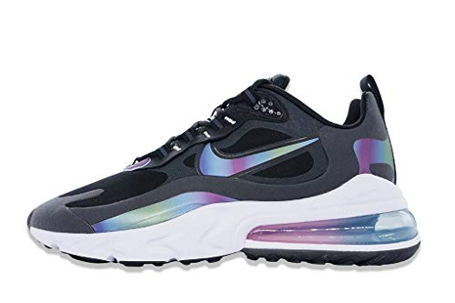 Nike Air MAX 270 React, Zapatillas para Correr Hombre, Nero Dark Smoke Grey Black White Multi Colour, 47 EU