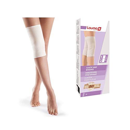 Lauma Medical, Elastischer Knieverband 2 Pack zur Schmerzlinderung Rheumatismus Arthritis Verstauchungen, Gelenkunterstützung Sport und Training (3 (M), Beige)