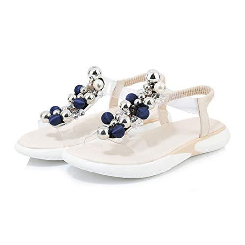 Sandalias Planas de Verano para Mujer Slip On T Strap Walking Zapatos de Playa Casual Peep Toe Tacones de cuña Baja Plataforma al Aire Libre Chanclas Tamaño 35-39