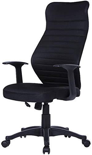 Sillas Oficina Silla Ergonomica con Respaldo Alto sillas de rotación de Videojuegos ergonómica giratoria de Oficina Silla del Acoplamiento de la Ayuda Lumbar de 10 cm de Altura Ajustable Negro mwsoz
