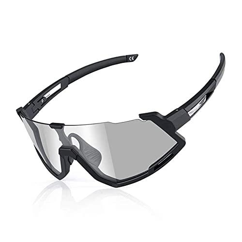 CYGG Eviertas de ciclismo a prueba de viento Vidrios de cambio de color de al aire libre y gafas deportivas para mujer y gafas corriendo Gafas Ultra-light Sun Glasses Equipo de bicicleta