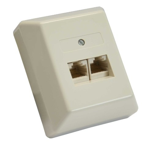 InLine 69988B ISDN Anschlussdose, 2x RJ45 Buchse, Aufputz, Schraubanschluss 2x 8-fach