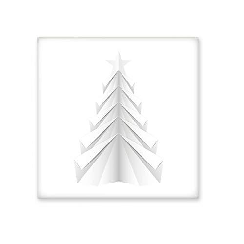 Blanco abstracto árbol de Navidad Origami brillante cerámica azulejos baño cocina pared piedra decoración Craft–regalo