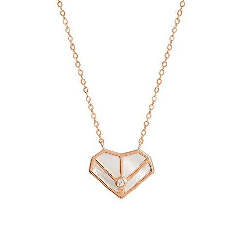 Gwrdnjpjc 925 Zilveren Liefde Ketting Eenvoudig Ontwerp Temperament Nis Vrouwelijke Sleutelbeen Ketting Mode