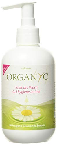 Organyc, Feminine Intimate Wash for Sensitive Skin Free from Chlorine Parabens SLSSLES and Synthetic Perfumes Fluid Ounce, Transparent, Chamomile,Calendula, 8.5 Fl Oz (R00305)