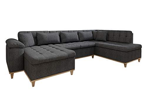 Eckcouch Ecksofa Nikos, Sofa mit Schlaffunktion, U-Form Couch, Große Farbauswahl, Wohnlandschaft vom Hersteller (Majorka 03, Seite: Links)