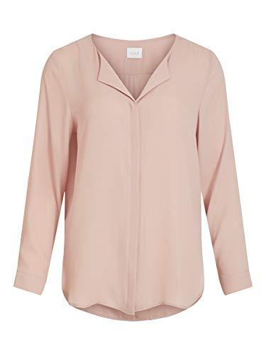 Vila Damen Vilucy L/S Shirt - Noos Bluse, Pale Mauve, XL EU