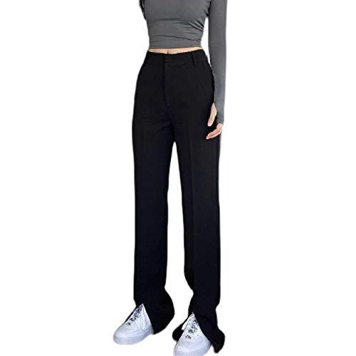N\P Pantalones Largos Ajustados con Abertura en Forma de lápiz para Mujer Pantalones de Mujer Pantalones de Cintura Alta Pantalones de Traje