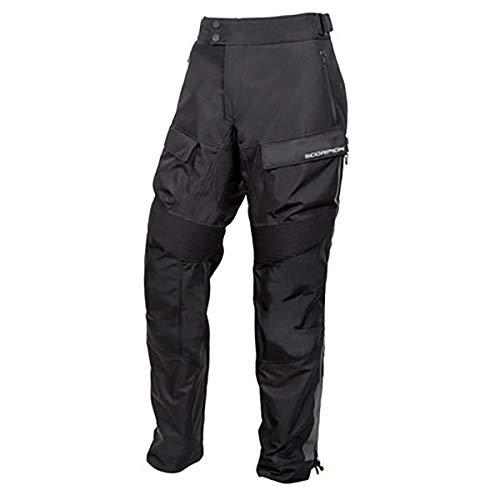 Scorpion EXO Seattle WP Men's Textile Motorcycle Over-Pants (Black, Medium)