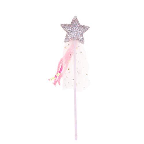 Amosfun Varita de Estrella para Disfraz de Navidad, varitas de Hada de ángel, varitas para cumpleaños, Bodas, Fiestas, Cosplay, Juguetes, Juegos de rol
