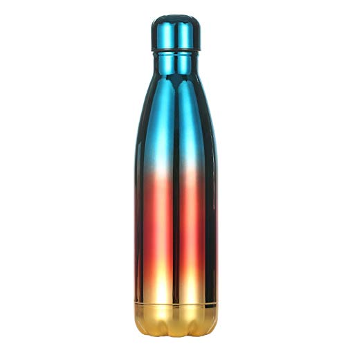 YJIU 304 Trinkflasche, Sport-Tasse, Edelstahl, Verlaufsbeschichtung aus Edelstahl, kreativ, mit Schwanz 05